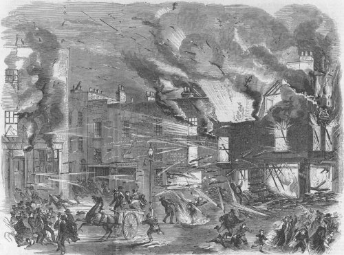 1858 The explosion at Madame Cotons firework factory Westminster Road London